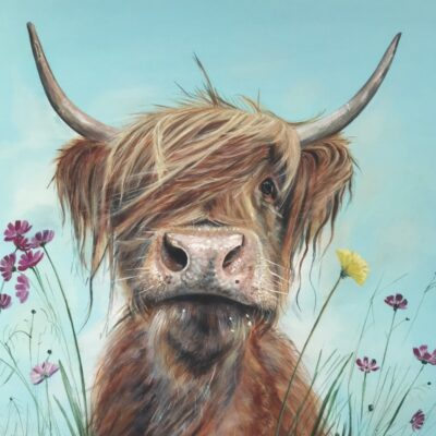 Highland Cow Ronald Jnr Art Pankhurst Cards and Gifts