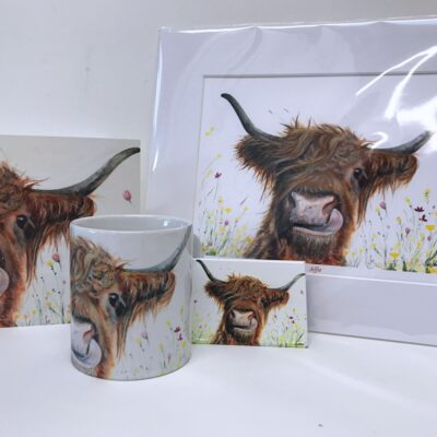 Highland Cow Alfie Gift Collection Pankhurst Cards and Gifts