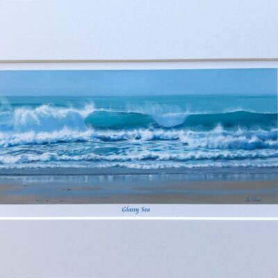 Glassy Sea Seascape Art Print Gift Pankhurst Cards and Gifts