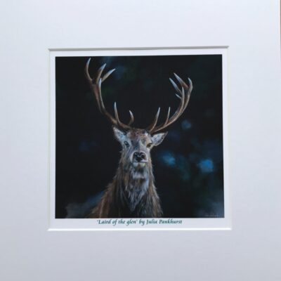 Laird of the Glen Stag Animal Art Print Gift Pankhurst Cards and Gifts