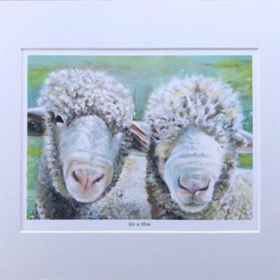 Pankhurst Cards and Gifts prints Me N Him Ewe Sheep Animal Art