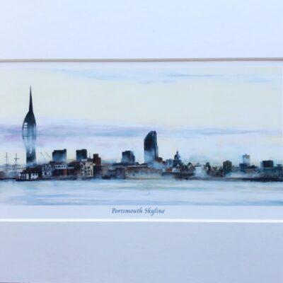 Portsmouth Skyline Landscape Art Print Gift Pankhurst Cards and Gifts