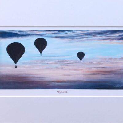 Skyward Hot Air Balloon Art Print Gift Pankhurst Cards and Gifts