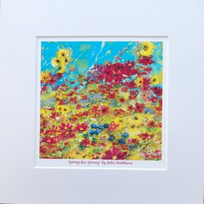Spring Has Sprung Flower Landscape Art Print Gift Pankhurst Cards and Gifts