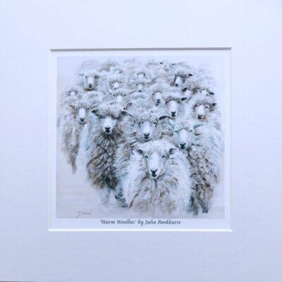 Warm Woollies Sheep Ewe Animal Art Gift Print Pankhurst Cards and Gifts