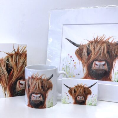 Highland Cow Dennis Gift Collection Pankhurst Cards and Gifts