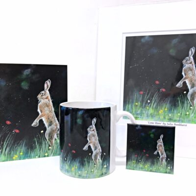 Lone Hare Animal Art Gift Collection Pankhurst Cards and Gifts