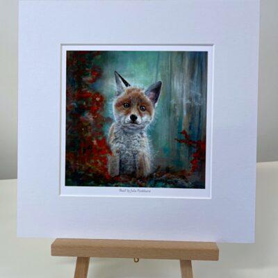 Basil Fox Cub Animal Art Gift Print Pankhurst Cards and Gifts