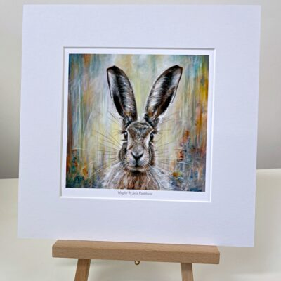 Hughie Hare Animal Art Gift Print Pankhurst Cards and Gifts