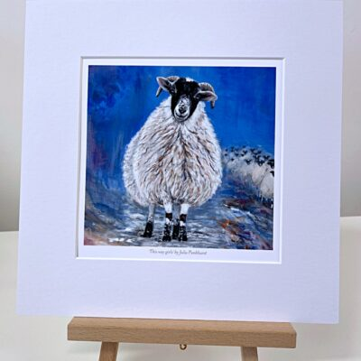 This Way Sheep Animal Art Gift Print Pankhurst Cards and Gifts