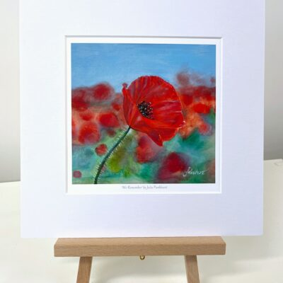 We Remember red poppy art gift print Pankhurst Cards and Gifts