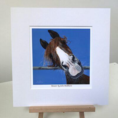 Benson Horse Animal Art Gift Print Pankhurst Cards and Gifts