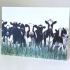 An Audience Friesian Cows Art Greetings Card Gift Pankhurst Cards and Gifts