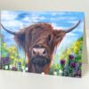 Hamish Highland Cow Art Greetings Card Gift Pankhurst Cards and Gifts