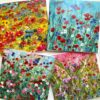 Pankhurst Cards and Gifts Les Fleurs flower wildflower meadowart greetings cards