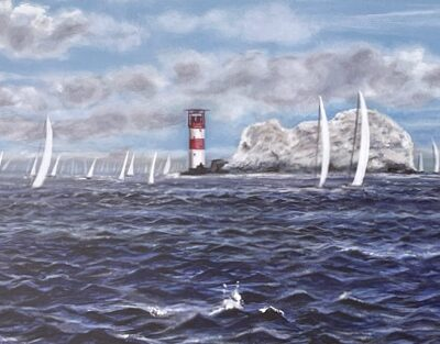 White Wings yachting sailing seascape Art Greetings Card Gift Pankhurst Cards and Gifts